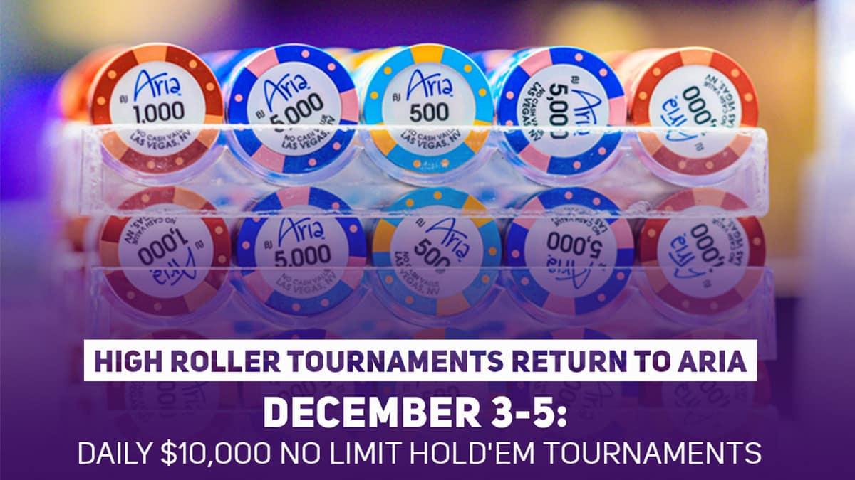ARIA Casino akan menyelenggarakan tiga acara $ 10.000 pada awal Desember