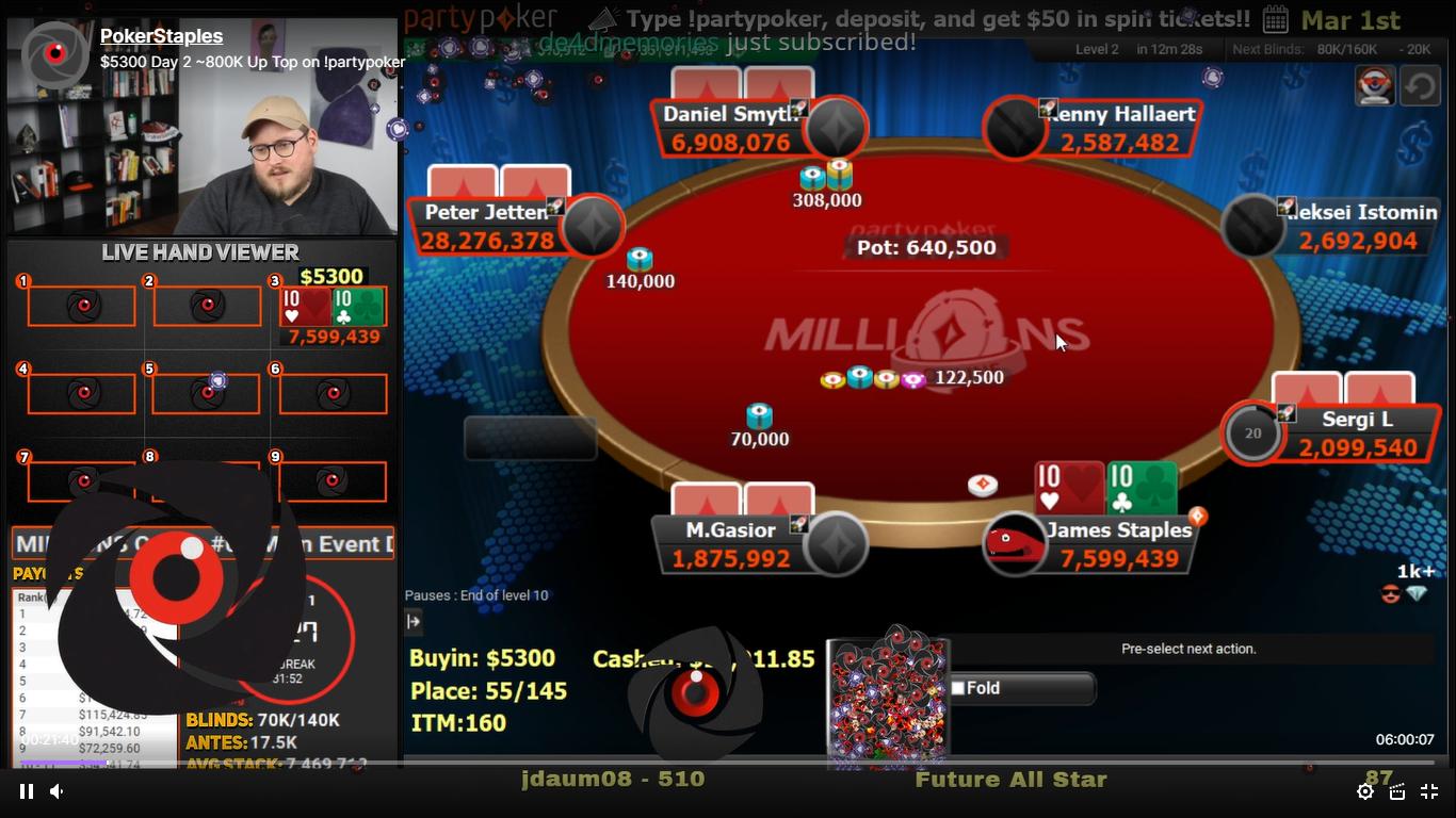 Jaime Staples partypoker poker